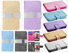 For LG Optimus Exceed 2 VS450 Bling Diamond Wallet Case Flip Pouch Phone Cover