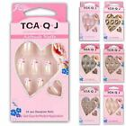 24 pcs Pre-design Tips Acrylic Nail Tip False French Full Nails Tips ToRB88