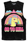Kawaii Pastel Goth Go To Hell Unicorn Rainbow Tank Vest Top MLP