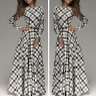 Fashion Woman Autumn Winter Work Wear Collect Waist Dress Evening Party Dress