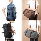Men's Vintage Canvas Backpack Rucksack Laptop Shoulder Outdoor Duffle Bag #F8s
