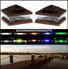 Solar Post Cap Deck Fence Color LED Lights 5x5 or 6x6 Copper Colored 12 Pack