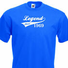 LEGEND SINCE 1969, FUNNY MENS TSHIRT 47th  BIRTHDAY PRESENT 7 COLOURS 6 SIZES