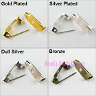 15mm 20mm 25mm 30mm Brooch Back Bar Pins Silver Gold Bronze Dull Silver Plt