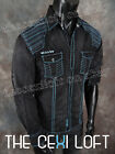 NEW Mens ROAR Button-Down shirt GENERAL Slim Fit Black Wash Style W51904s
