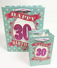 Age 30th Gift Bag Small Large Wrap Quality Giftbag Present Bags Birthday Female