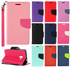 LG Optimus Exceed 2 VS450 Premium Leather Wallet Flip Cover Lips +Screen Guard