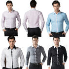 CLEARANCE PROMOTION Mens Dress Shirts Casual Formal Shirt Fitted Button S M L XL