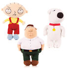 "FAMILY GUY SOFT PLUSH 7"" TOYS PETER STEWIE BRIAN GRIFFIN NOVELTY OFFICIAL GIFT"