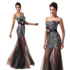 Homecoming Sequins Long Mermaid VINTAGE 50S Evening Party Ball Gown Prom Dresses