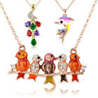 Mutil Color Animal Style Chain Pendant Necklace 18K Gold Plated Gift N44N70N91