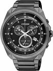 Citizen Eco-Drive Black Ion Chronograph 50m Tachymeter Sports Watch AT2155-58E