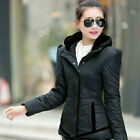 Top Fashion Womens Slim Winter Hooded Padded Casual Hoody Coat Down Jacket Parka