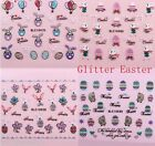 nail art stickers Easter Nail Art Stickers Decals Transfers Bows Bunny Rabbits