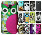 For ZTE Rapido Z932C Rubberized HARD Protector Case Snap Cover +Screen Protector