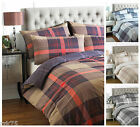 Clubhouse Check Duvet Quilt Cover Set, Reversible Bedding, Single Double King
