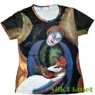 Franz Marc Girl with Cat II ANIMAL KITTEN PAINTING T SHIRT TOP FINE ART PRINT