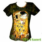 GUSTAV KLIMT the KISS LOVE ROMANCE T SHIRT NOUVEAU FINE ART PRINT PAINTNG