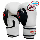 Farabi Kids Junior Boxing Gloves Muay Thai Training Punching Bag Mitts White