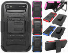 BlackBerry Classic Combo Holster HYBRID KICKSTAND Rubber Cover +Screen Protector