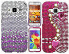 Samsung Galaxy Prevail LTE Crystal Diamond BLING Hard Case Cover +Screen Guard