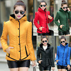 NEW Fashion Womens Slim Winter Hooded Padded Coat Down Jacket Parka Outwear S~XL