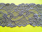 "NEW~ Beautiful GREY Stretch Scalloped Lace 3.5""/9 cm Lingerie/Trim"