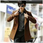Vintage Retro Men's Fashion Double Breasted Slim Fit Trench Coat Jacket Outwear