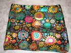 Multi-Colors Bright Floral Scarf Polyester 1 Big Flowers 1 Tiny Leaves Unbranded