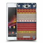 HEAD CASE KNITTED CHRISTMAS SILICONE GEL CASE FOR SONY XPERIA C C2305