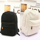 New Women Girl Lace Canvas Backpack Bag Shoulder Schoolbag Bookbag Black White