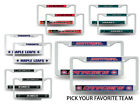 NHL Teams - Hockey Plastic (2) License Plate Frame Set Car Truck Auto Tag Wall $11.99 USD on eBay