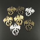 24X Mixed Color Vintage Dragon Shape Jewelry Findings Charm Pendants Hot