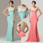 NEW Maxi Quinceanera BRIDAL Prom Ball Bridesmaid Evening Party FRONT SPLIT Dress