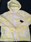 NWT Tommy Hilfiger yellow nylon light weight jacket hoodie women white $129.5