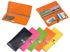 Genuine Leather Bifold Long Wallet ID Card Slot Clutch