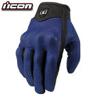 ICON Pursuit Summer Road Motorcycle GLOVES size S & M & L &  XL avail Blue