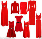 Valentine Red Formal Evening Buckle Swing Diamante Maxi Dress Gown Skater Top