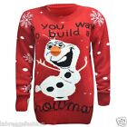 Neu Do You Want to Baue a Schneemann Olaf Weihnachts Pullover 3d Nase