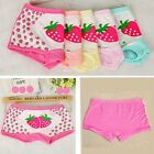 Kids Girls Cotton Brief Panties Strawberry Underwear Cartoon Children For 6-9Y