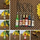 10~50 Acrylic Wine Bottle Resin Pendant Key Chain Gift Crafts Without Strings