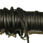 "1/8"" Black & Brown Leather Reinforced Lacing - By The Yard"