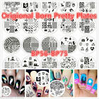 Nail Stamping Stamp Image Plate Stencil Template Nail Art Original Born Pretty