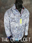 "Mens Button-Down Robert Graham Sport Shirt ""MAITAI"" in Blue & White"