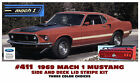 411 1969 FORD MUSTANG - MACH 1 SIDE and TRUNK STRIPE DECAL KIT - THREE COLORS