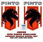 SP - M358 1976 FORD PINTO - STALLION FENDER DECAL SET - TWO DECALS - DIE CUT