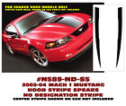 N589-ND 2003-04 FORD MUSTANG  MACH 1 - HOOD SPEARS - Solid stripe NO names