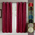 Virginia Weave Grommet Top Panels, Set of two Blackout Weave Window Curtains