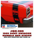 QG-383 1969 DODGE DART - DART SWINGER - BUMBLE BEE STRIPE KIT - LICENSED $ USD