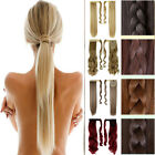 As Human Clip In Ponytail Pony Tail Hair Extension Piece Wrap On Hair Piece  3U9